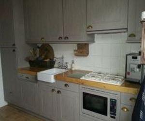 Houten Keuken Geverfd : Lyra salontafel in wit geverfd en bruin hout