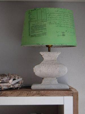Onwijs Lampenkappen verven met Annie Sloan Chalk Paint CJ-35