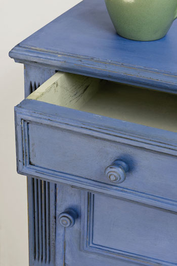 annie sloan chalk paint greek blue voorbeeld
