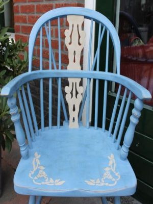 annie sloan chalk paint greek bleu voorbeeld